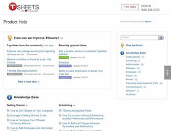 help.tsheets.com screenshot