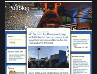 Main page screenshot of pottblog.de