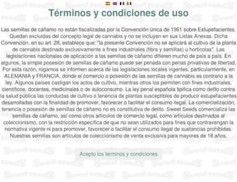 sweetseeds.es screenshot