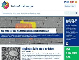 Main page screenshot of futurechallenges.org