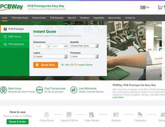 pcbway.com screenshot