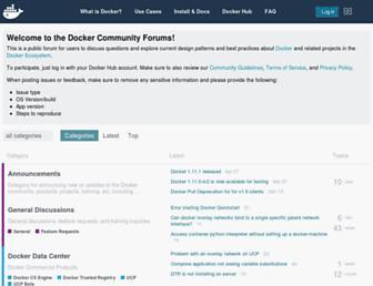 forums.docker.com screenshot