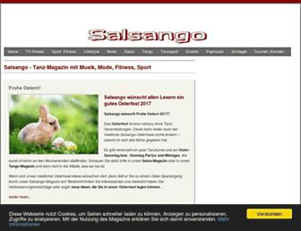 Main page screenshot of salsa-und-tango.de