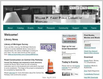 westlandlibrary.org screenshot