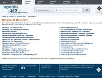 datasheets.globalspec.com screenshot