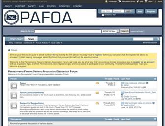 Main page screenshot of forum.pafoa.org