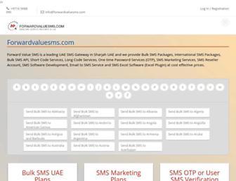 forwardvaluesms.com screenshot