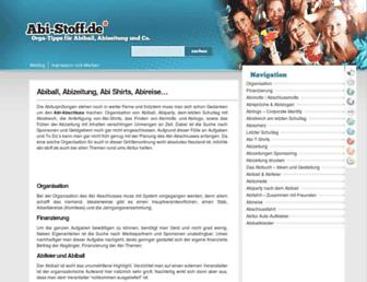Main page screenshot of abi-stoff.de