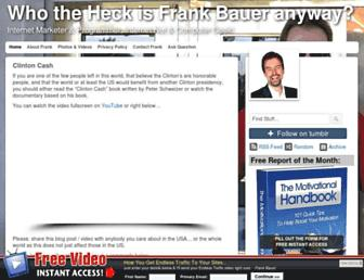 Main page screenshot of frankbauer.name