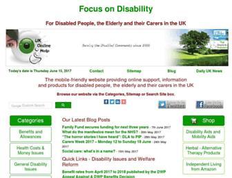 focusondisability.org.uk screenshot