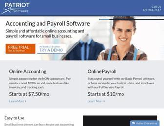 patriotsoftware.com screenshot