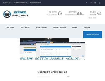kerneksurucukursu.com screenshot
