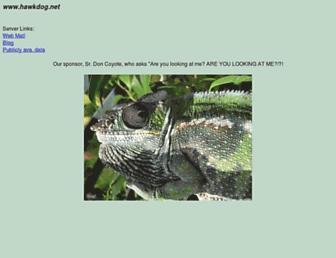 Main page screenshot of hawkdog.net