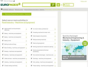 Main page screenshot of food-processing-machine-equipement.europages.co.uk