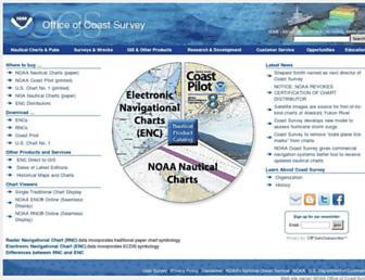 nauticalcharts.noaa.gov screenshot