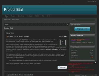 projectetal.com screenshot