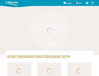 visitcalifornia.com screenshot