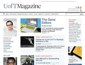magazine.utoronto.ca screenshot