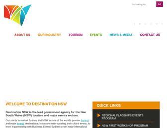 destinationnsw.com.au screenshot