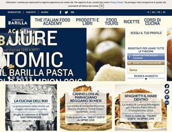 Main page screenshot of academiabarilla.it