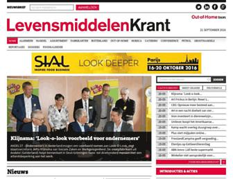 Main page screenshot of levensmiddelenkrant.nl