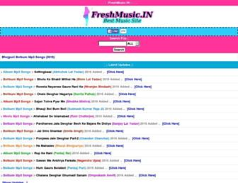 freshmusic.in screenshot