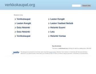 Main page screenshot of verkkokaupat.org