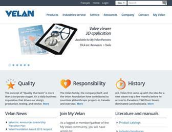 velan.com screenshot