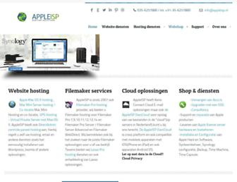 Main page screenshot of appleisp.nl