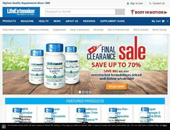 lifeextension.com screenshot