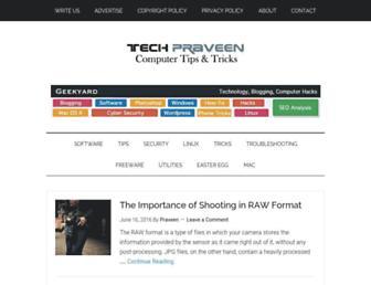 techpraveen.com screenshot