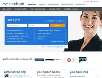 randstad.co.nz screenshot