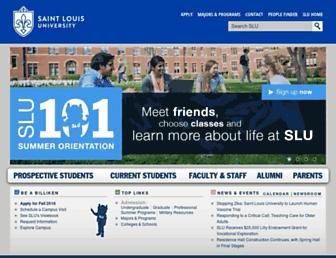Main page screenshot of slu.edu