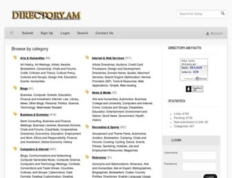 Main page screenshot of directory.am