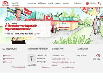 Main page screenshot of icagruppen.se