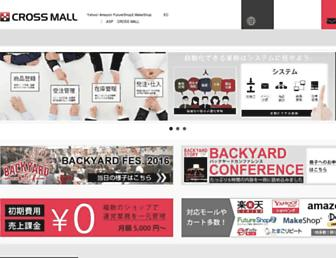 Main page screenshot of cross-mall.jp