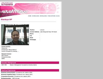 wardoyo.staff.gunadarma.ac.id screenshot