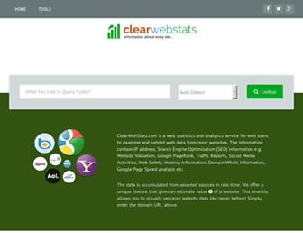 Thumbshot of Clearwebstats.com