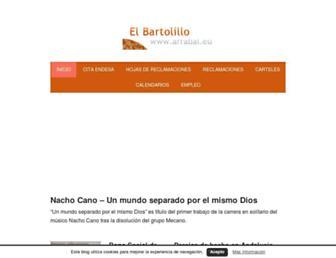 Main page screenshot of arrabal.eu