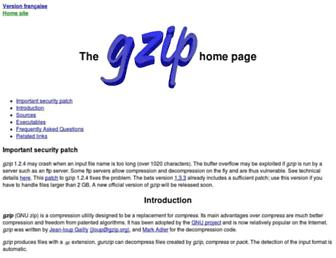 gzip.org screenshot