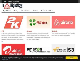 isdownrightnow.net screenshot