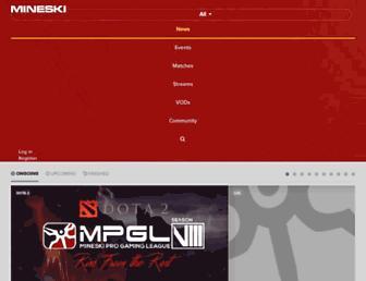 mineski.net screenshot