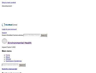 ehjournal.biomedcentral.com screenshot