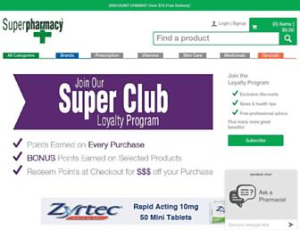 superpharmacy.com.au screenshot
