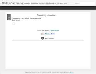 carlescarrera.com screenshot