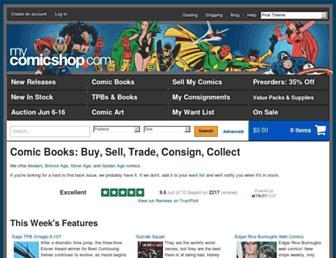 mycomicshop.com screenshot