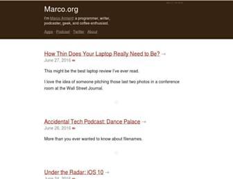 Thumbshot of Marco.org