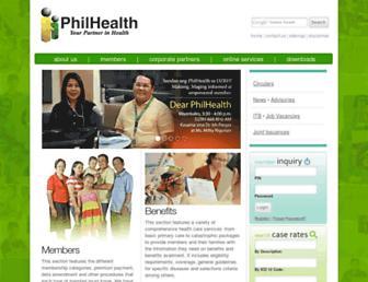 Thumbshot of Philhealth.gov.ph