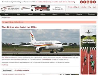 Main page screenshot of ch-aviation.ch
