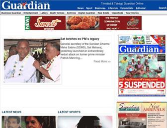 Main page screenshot of guardian.co.tt